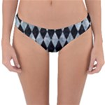 DIAMOND1 BLACK MARBLE & ICE CRYSTALS Reversible Hipster Bikini Bottoms