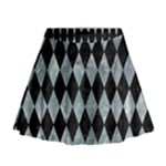 DIAMOND1 BLACK MARBLE & ICE CRYSTALS Mini Flare Skirt
