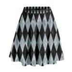 DIAMOND1 BLACK MARBLE & ICE CRYSTALS High Waist Skirt
