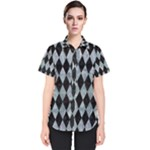 DIAMOND1 BLACK MARBLE & ICE CRYSTALS Women s Short Sleeve Shirt