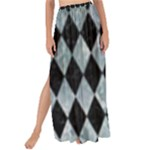 DIAMOND1 BLACK MARBLE & ICE CRYSTALS Maxi Chiffon Tie-Up Sarong