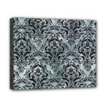 DAMASK1 BLACK MARBLE & ICE CRYSTALS Canvas 10  x 8