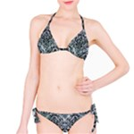 DAMASK1 BLACK MARBLE & ICE CRYSTALS Bikini Set