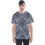 DAMASK1 BLACK MARBLE & ICE CRYSTALS Men s Sports Mesh Tee