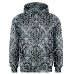 DAMASK1 BLACK MARBLE & ICE CRYSTALS Men s Pullover Hoodie