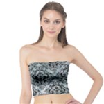 DAMASK1 BLACK MARBLE & ICE CRYSTALS Tube Top