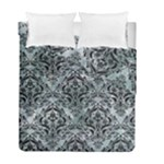 DAMASK1 BLACK MARBLE & ICE CRYSTALS Duvet Cover Double Side (Full/ Double Size)