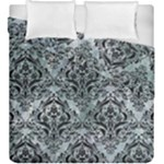 DAMASK1 BLACK MARBLE & ICE CRYSTALS Duvet Cover Double Side (King Size)