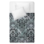 DAMASK1 BLACK MARBLE & ICE CRYSTALS Duvet Cover Double Side (Single Size)