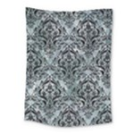 DAMASK1 BLACK MARBLE & ICE CRYSTALS Medium Tapestry
