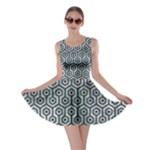 HEXAGON1 BLACK MARBLE & ICE CRYSTALS Skater Dress