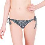 HEXAGON1 BLACK MARBLE & ICE CRYSTALS Bikini Bottom