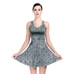 HEXAGON1 BLACK MARBLE & ICE CRYSTALS Reversible Skater Dress