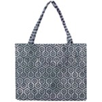 HEXAGON1 BLACK MARBLE & ICE CRYSTALS Mini Tote Bag