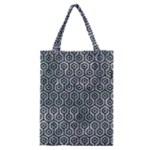 HEXAGON1 BLACK MARBLE & ICE CRYSTALS Classic Tote Bag