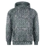HEXAGON1 BLACK MARBLE & ICE CRYSTALS Men s Pullover Hoodie