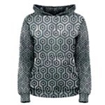 HEXAGON1 BLACK MARBLE & ICE CRYSTALS Women s Pullover Hoodie
