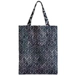 HEXAGON1 BLACK MARBLE & ICE CRYSTALS Zipper Classic Tote Bag