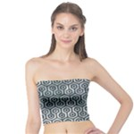 HEXAGON1 BLACK MARBLE & ICE CRYSTALS Tube Top
