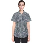 HEXAGON1 BLACK MARBLE & ICE CRYSTALS Women s Short Sleeve Shirt