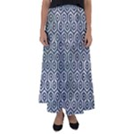HEXAGON1 BLACK MARBLE & ICE CRYSTALS Flared Maxi Skirt