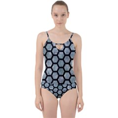 Hexagon2 Black Marble & Ice Crystals Cut Out Top Tankini Set by trendistuff