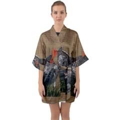 Thanksgiving Turkey Quarter Sleeve Kimono Robe by Valentinaart