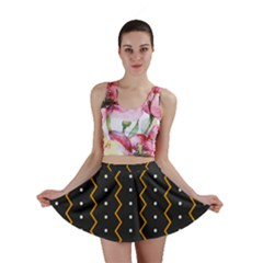 Halloween Zigzag Vintage Chevron Ornamental Cute Polka Dots Mini Skirt by Alisyart