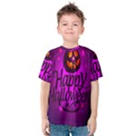 Happy Ghost Halloween Kids  Cotton Tee