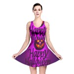 Happy Ghost Halloween Reversible Skater Dress
