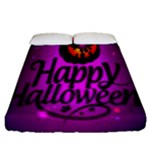 Happy Ghost Halloween Fitted Sheet (Queen Size)
