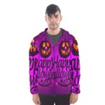 Happy Ghost Halloween Hooded Wind Breaker (Men)