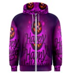 Happy Ghost Halloween Men s Zipper Hoodie