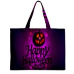 Happy Ghost Halloween Zipper Mini Tote Bag