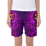 Happy Ghost Halloween Women s Basketball Shorts
