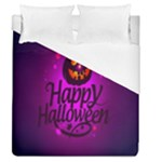 Happy Ghost Halloween Duvet Cover (Queen Size)