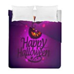 Happy Ghost Halloween Duvet Cover Double Side (Full/ Double Size)