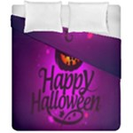 Happy Ghost Halloween Duvet Cover Double Side (California King Size)