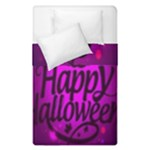 Happy Ghost Halloween Duvet Cover Double Side (Single Size)