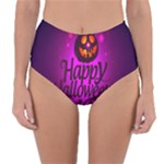 Happy Ghost Halloween Reversible High-Waist Bikini Bottoms