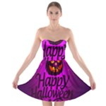 Happy Ghost Halloween Strapless Bra Top Dress