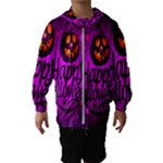 Happy Ghost Halloween Hooded Wind Breaker (Kids)