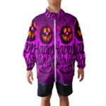 Happy Ghost Halloween Wind Breaker (Kids)