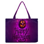 Happy Ghost Halloween Zipper Medium Tote Bag