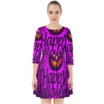 Happy Ghost Halloween Smock Dress
