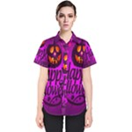 Happy Ghost Halloween Women s Short Sleeve Shirt