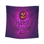 Happy Ghost Halloween Square Tapestry (Small)