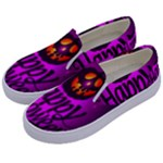 Happy Ghost Halloween Kids  Canvas Slip Ons