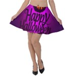 Happy Ghost Halloween Velvet Skater Skirt
