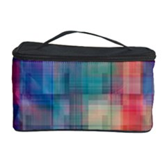 Rainbow Prism Plaid  Cosmetic Storage Case by KirstenStar
